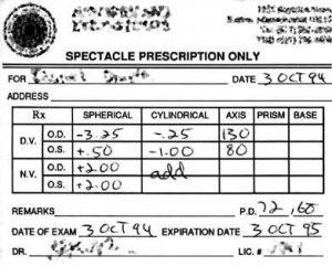 Accent Eye Care Prescription