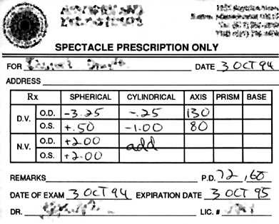 Accent Eye Care How To Read Your Glasses Prescription