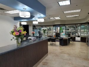 Accent Eye Care front desk and optical
