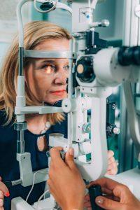 Accent Eye Care slit lamp exam